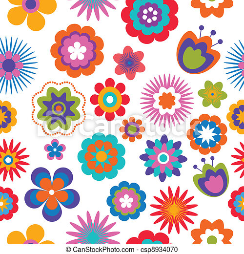 seamless flower pattern background - csp8934070