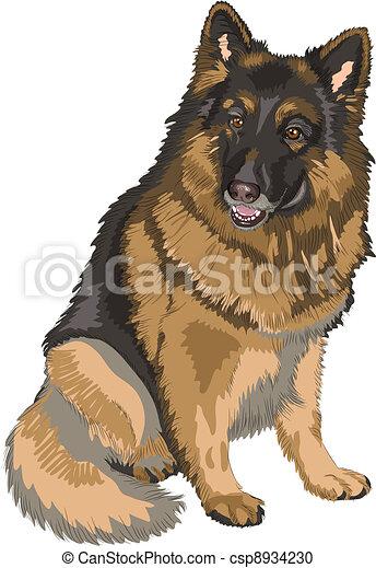 German shepherd Illustrations and Clipart. 827 German shepherd ...