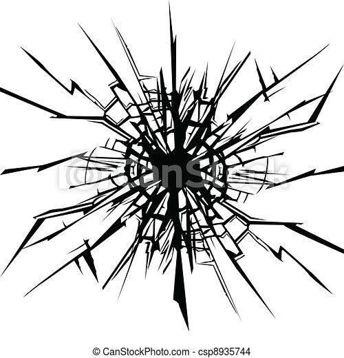 eps vektor von ri risse in der glas csp8935744. Black Bedroom Furniture Sets. Home Design Ideas