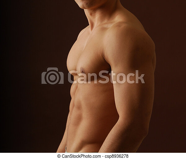Sexy nude man - csp8936278