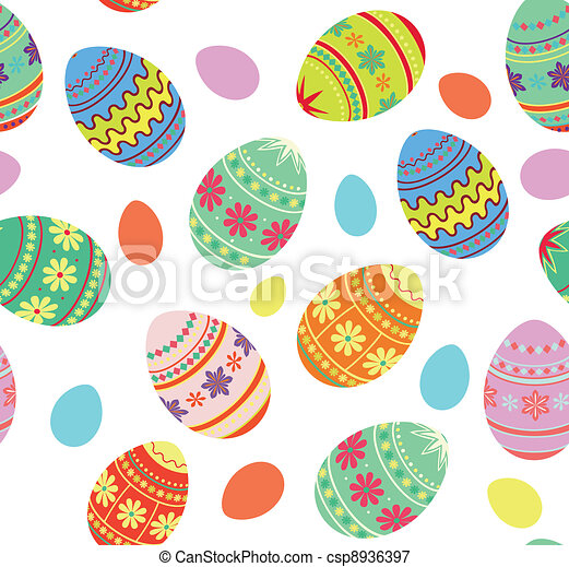 Easter decorative   background - csp8936397