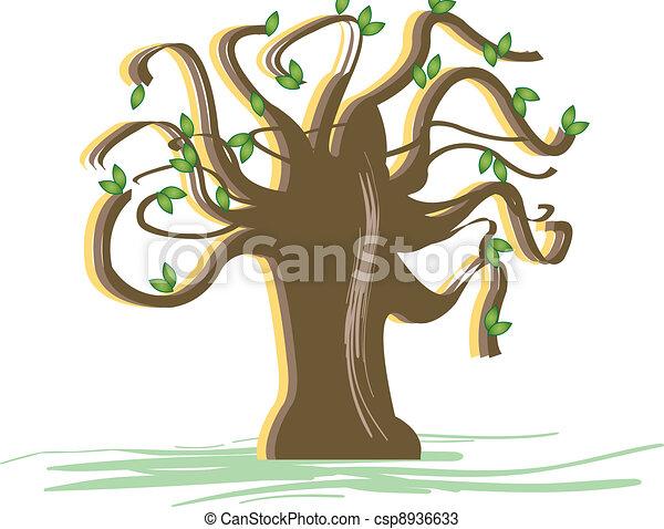 Spring Tree Starting To Bud - csp8936633