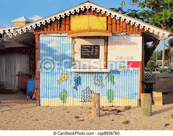 Cayman Islands Beachfront Diner - csp8936760