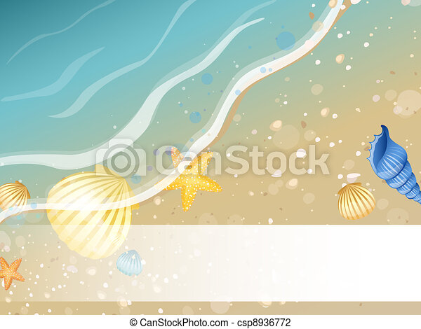 Summer Beach Design  - csp8936772