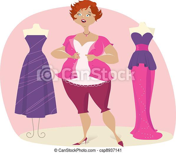 Full lady choosees dress - csp8937141