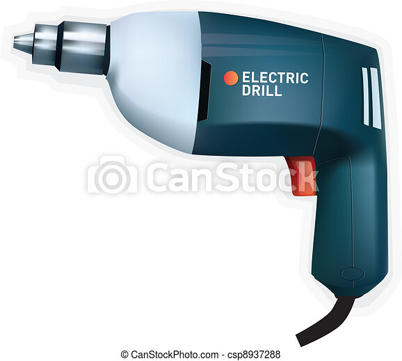Electric drill, vector - csp8937288