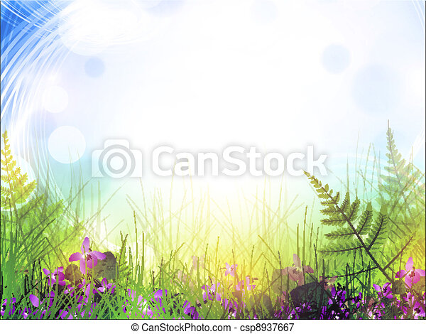 summer meadow with viola flowers - csp8937667