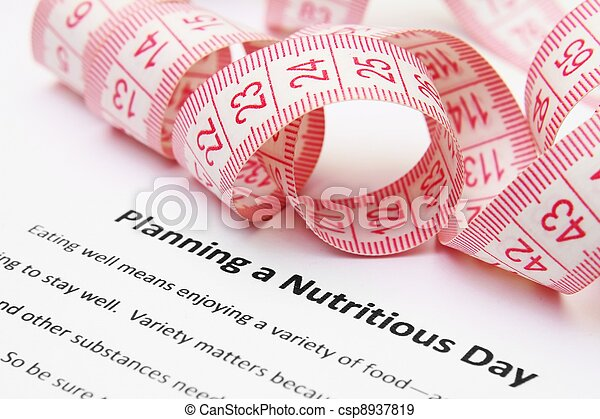Planning a nutritious day - csp8937819