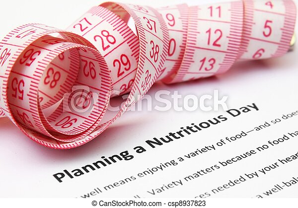 Planning a nutritious day - csp8937823
