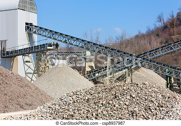 gravel and sand pit  - csp8937987