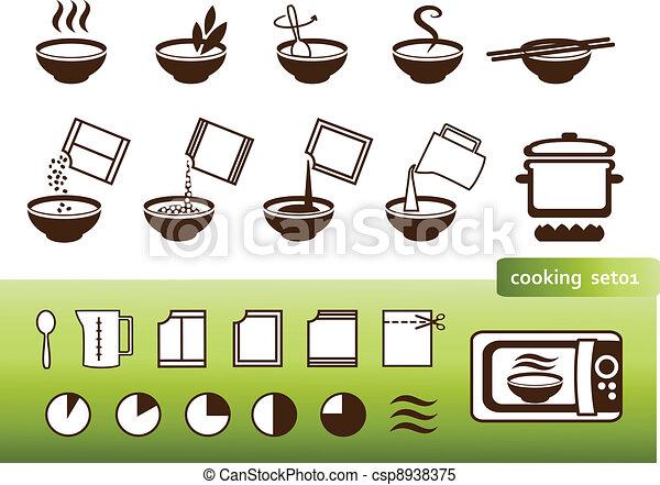 Clipart Vectorial De Manuales Cocina Se Ales Embalaje