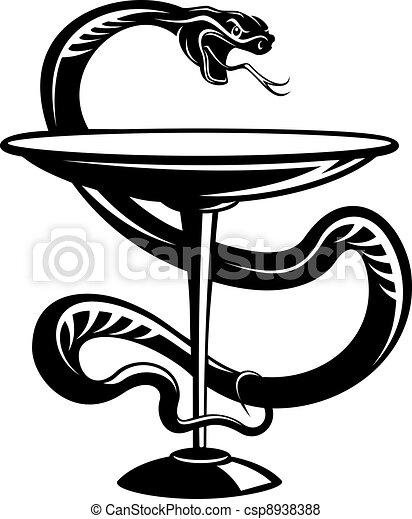 Medicine snake symbol - csp8938388