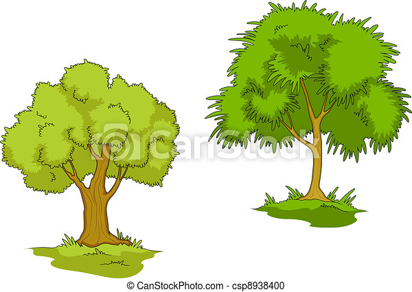 Isolated green trees - csp8938400