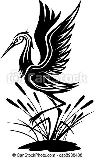 Heron bird - csp8938408