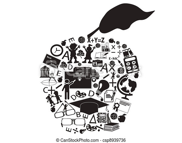 education apple - csp8939736