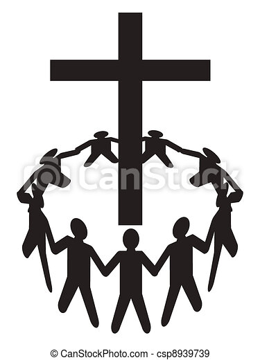 Clip Art Worship Clipart worship clipart and stock illustrations 14701 vector eps people gather around a cross group of gathering