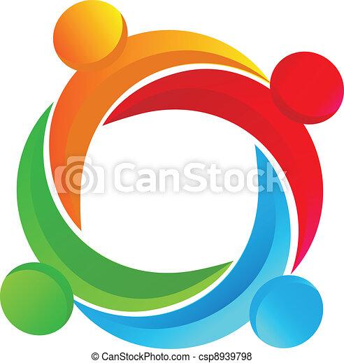 Teamwork diverse logo - csp8939798