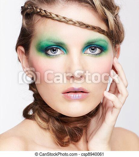 woman with creative hairdo - csp8940061