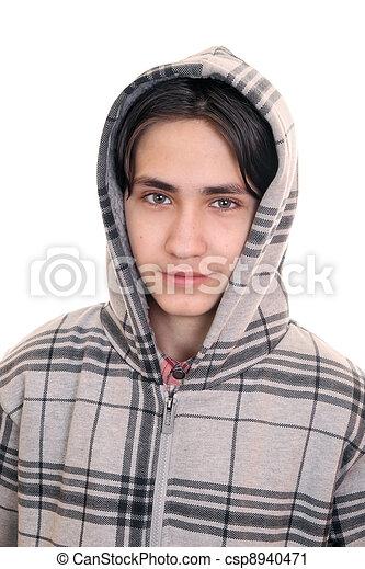 Gay boy in a jacket  - csp8940471