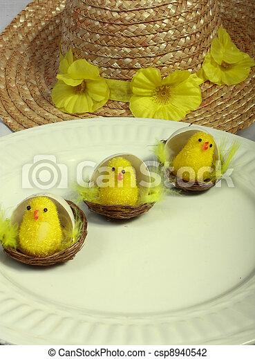 3 chicks & a bonnet - csp8940542