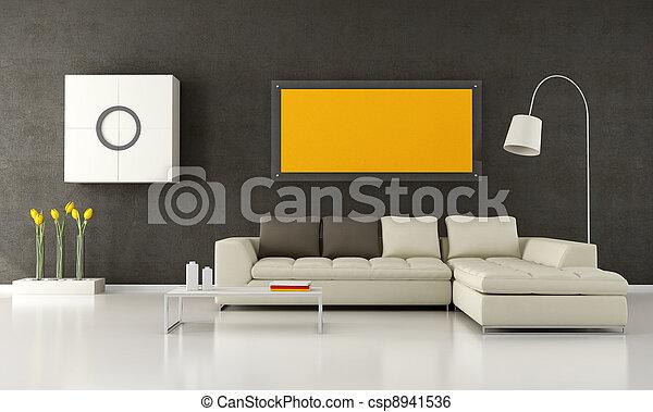 Modern living room - csp8941536