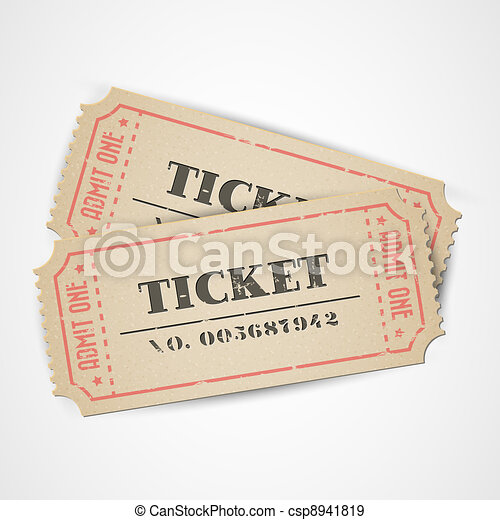 Vector vintage tickets - csp8941819