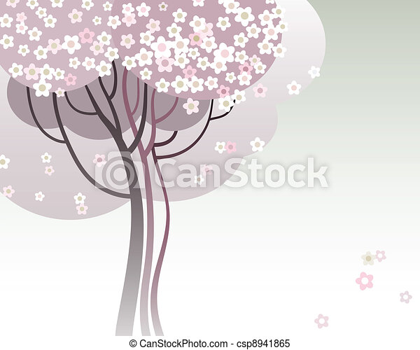 Trees in bloom - csp8941865
