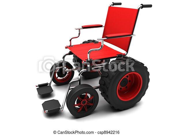 Wheelchair-terrain vehicle - csp8942216