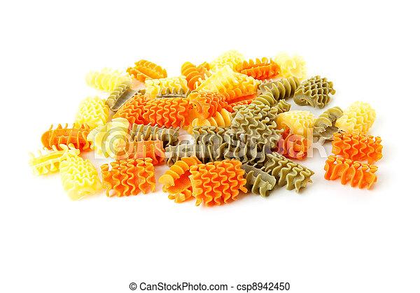 Raw Itailan pasta noodles - csp8942450
