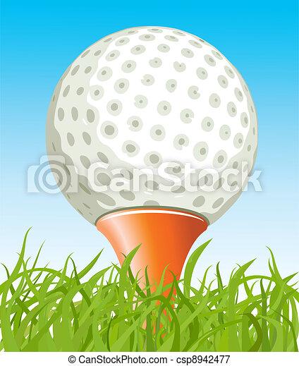 Golf ball on the grass - csp8942477