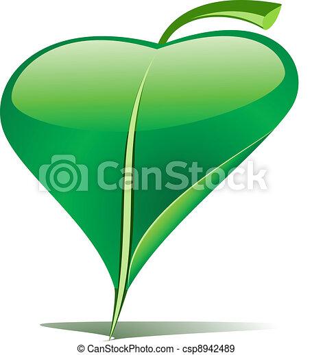 Green leaf pointer - csp8942489