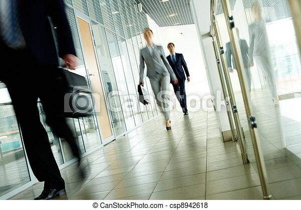 Walking people - csp8942618