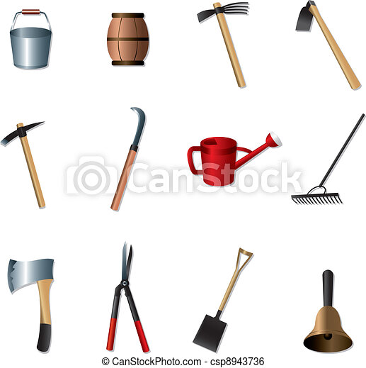 set of Gardening tools - csp8943736