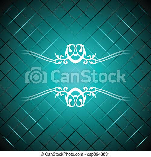 Vector turquoise luxury background - csp8943831