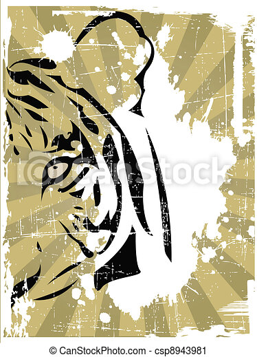 the vector abstract tiger head - csp8943981