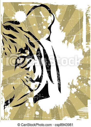the vector abstract tiger head - csp8943981