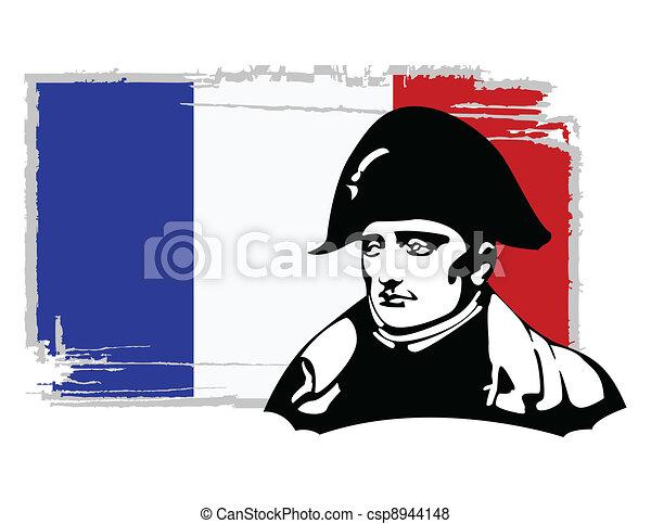 the vector Napoleon Bonaparte head - csp8944148