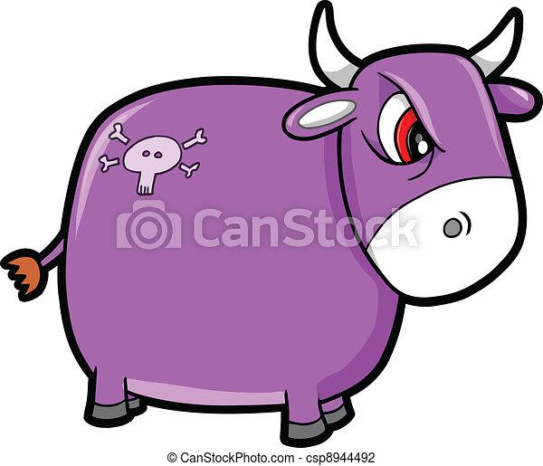 Mean Nasty Bull Cattle Animal  - csp8944492