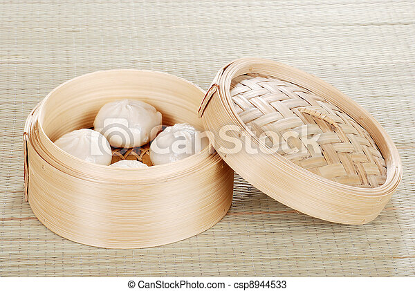 Dumpling basket with pork buns - csp8944533