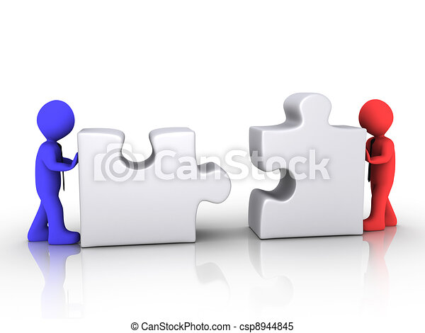 Different businessmen unite - csp8944845