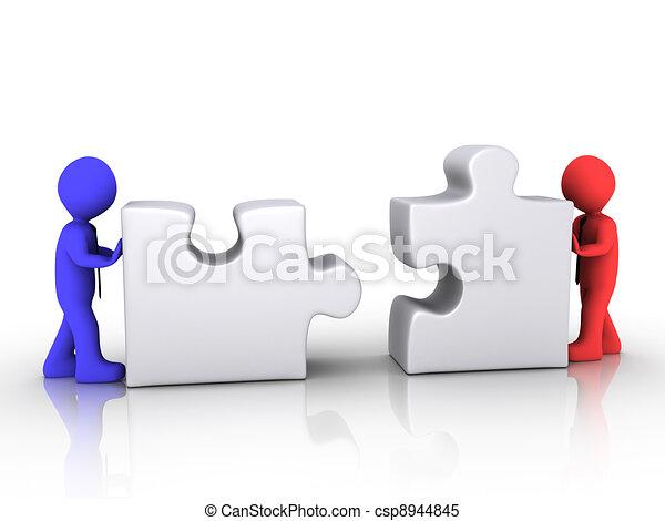 Different businessmen unite - csp8944845
