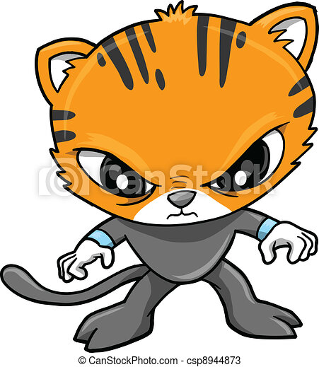 Tiger Warrior Vector Illustration  - csp8944873