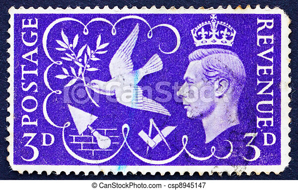 Postage stamp GB 1946 King George VI - csp8945147