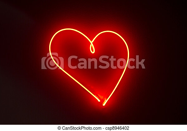 Neon Hearts Pictures Heart Shape Red Neon Lights