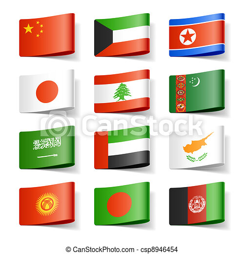 World flags. Asia. - csp8946454