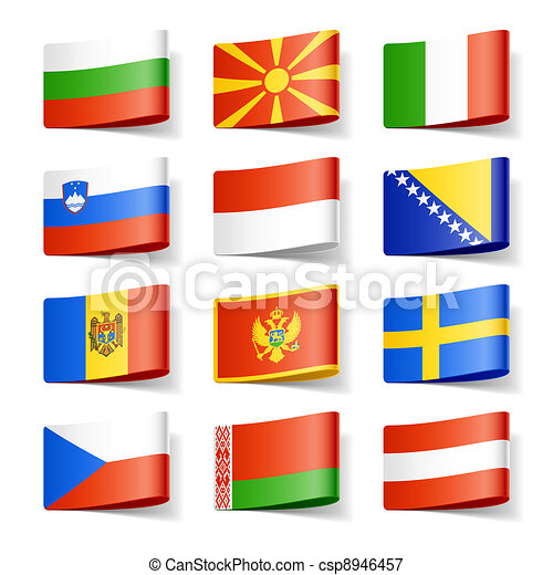 World flags. Europe.  - csp8946457