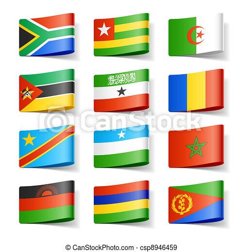 World flags. Africa. - csp8946459