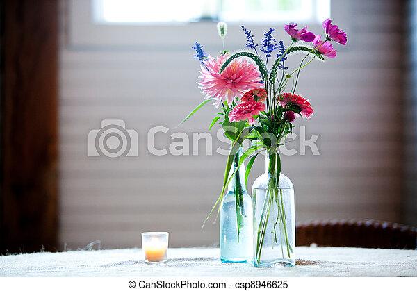 wedding bouquet of flowers - csp8946625