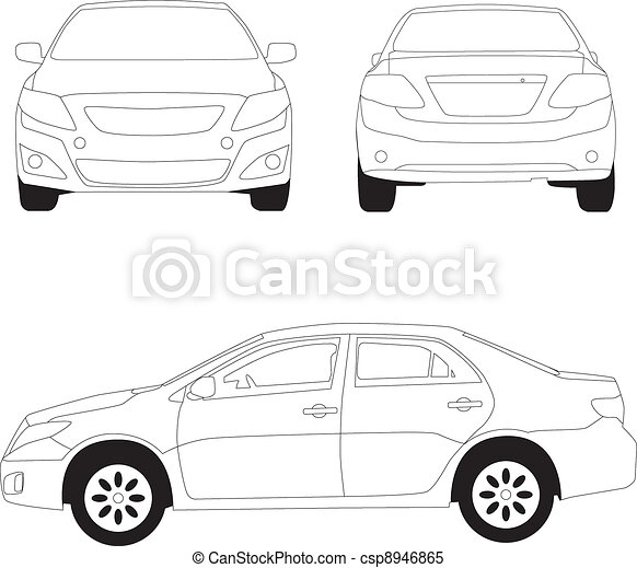 City car line illustration - csp8946865