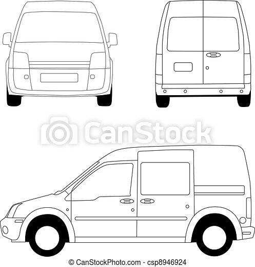 Delivery van - csp8946924